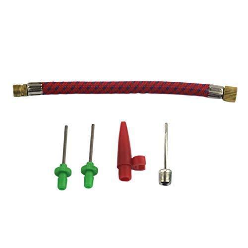 RENJIFAN Kit de adaptador de bomba de conexión de válvula de aguja de 5 piezas para fútbol