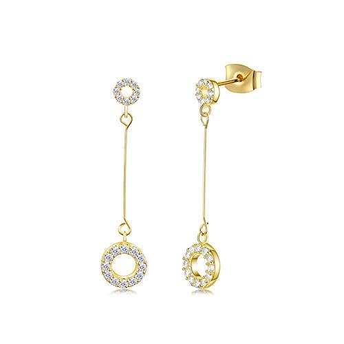 Eichel Donut Trump Damesoorringen, 925 sterling zilver, modieus sieraad met goede smaak en mode, het beste cadeau voor vrouwen, vriendin, dames