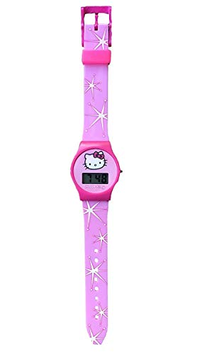 Hello Kitty Rosa Digital Reloj con Silicona Correa