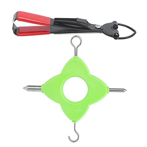 Herramienta de extracción de Nudos de Pesca múltiple 4 en 1, Herramienta de Anudado de línea de Pesca, Herramienta de Nudos sin Nudos, Accesorios de Aparejos de Terminal de Pesca