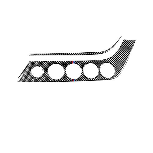 per B&MW Z4 E89 2009-2016 Adesivi in Fibra di Carbonio Nero Manopola per Aria Condizionata di Controllo Centrale Interni del Pannello AC Rifiniture Interne (Taglia : B)