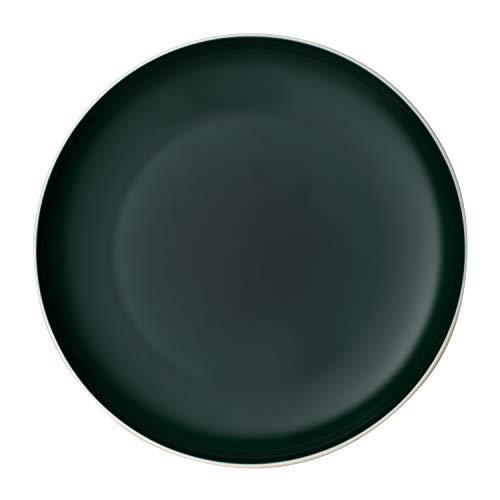 like. by Villeroy & Boch it's my match green, großer Teller Uni, 27 cm, formschöner Teller für jeden Tag, Premium Porzellan, grün, weiß, spülmaschienengeeignet
