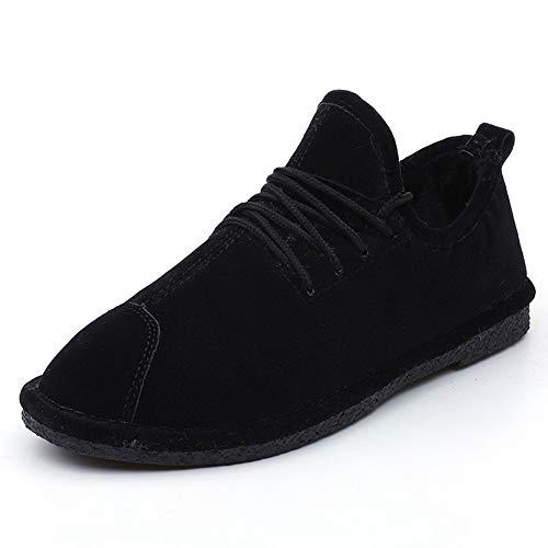Calzado de Nieve para Hombre Piel Interior Botas de Invierno cálido Zapatos Antideslizantes Resistentes al Desgaste
