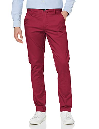 Amazon-Marke: MERAKI Herren Chinohose Slim Fit, Rot (Beet Red), 31W / 32L, Label: 31W / 32L