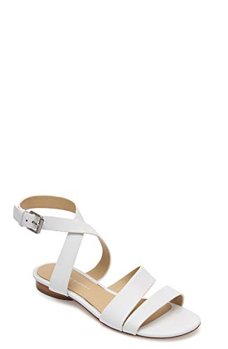 Etienne Aigner Orly - Leather Ankle Wrap Around Sandal In White