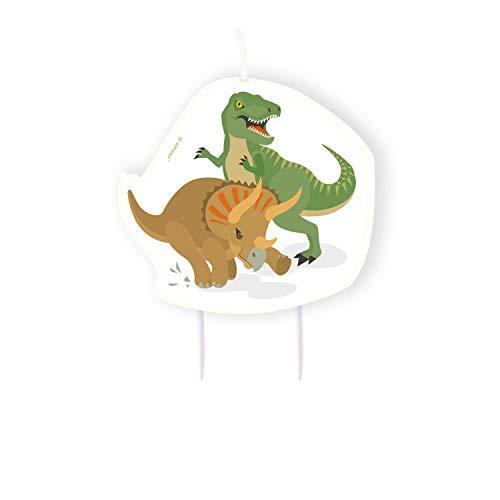 Amscan 9903981 Verjaardagskaars dinosaurus, meerkleurig