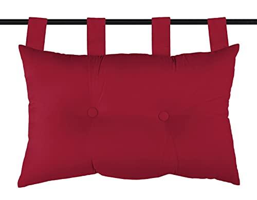 Lovely Casa – Cabecero de Cama, Modelo Jackson, Color Rojo, 45 x 70 cm, 100% poliéster
