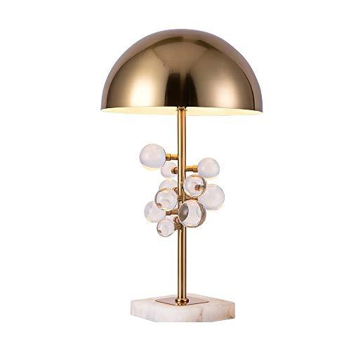 GLYYR Lámpara de Escritorio Lámpara Post-Modern Minimalistic Creative Colorful Crystal Ball Ball Lámpara Sala de Estar Estudio Hotel Dormitorio Lámpara de Noche 35 * 58 cm (Color : Crystal)
