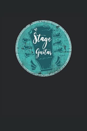 Stage Guitar - Guitarra de escenario Roady Roadies Equipo de escenario: Cuaderno de notas | Rayas | 6 'x9' (15,24 x 22,86 cm), 120 páginas, papel crema, cubierta mate