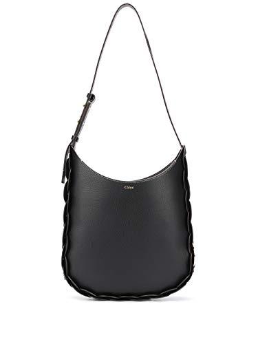 Chloé Luxury Fashion Damen CHC20US341C61001 Schwarz Leder Schultertasche   Frühling Sommer 20