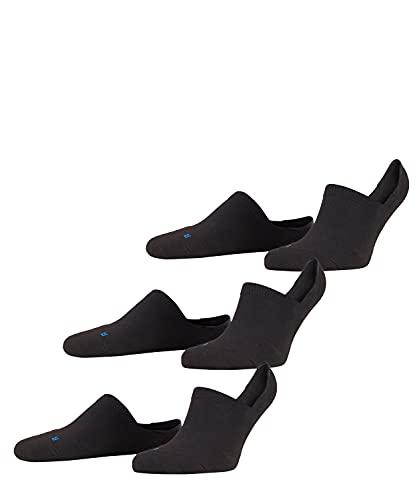 FALKE Unisex Füßlinge Cool Kick Invisible 3-pack - Funktionsfaser, 3 Paar, Schwarz (Black 3000), Größe: 44-45