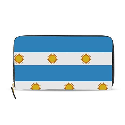 Cartera larga de cuero con la bandera de Argentina para mujer