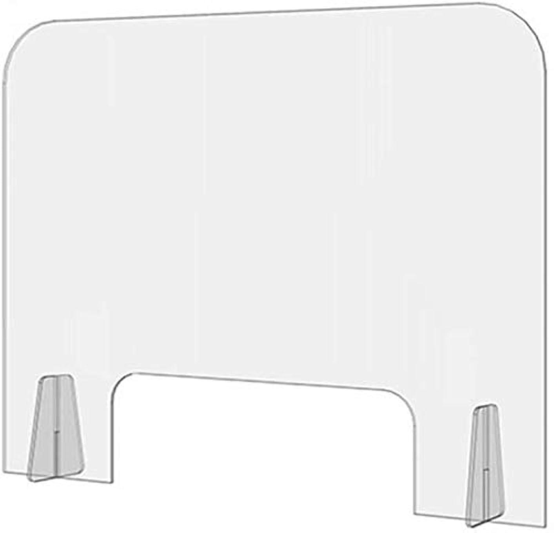 サッカーブレス三隔壁またはキュービクル用小型オープニングくしゃみガードパネルアクリル保護シールドキュービクルデスク仕切り付き2個クリアレセプションの保護、 (色 : Transparent, サイズ : 40x40cm)