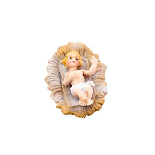 MAROLIN Krippenlager mit Jesuskind, zu 12cm Fig. (Kunststoff)