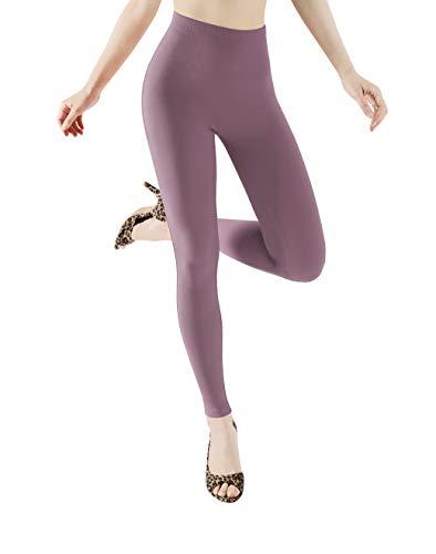 ODODOS Women's Camel Toe Free Fashion Leggings, Brushed Buttery Soft Slim Leggings +Plus Size, Lavender, 3XL-4XL