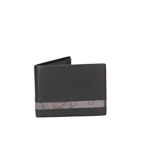 PORTAFOGLIO UOMO ALVIERO MARTINI 1° CLASSE ART. BVW1455400 pelle colore nero asfalto dim 13 x 10