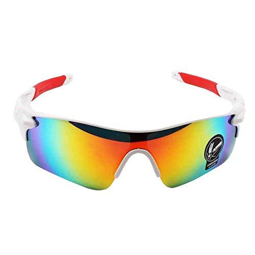 Weimay Occhiali da sole da uomo polarizzati con montatura in metallo Occhiali da vista ultravioletti con protezione UV400, per l'esterno Pesca sportiva Golf da guida Ciclismo da campeggio(A)