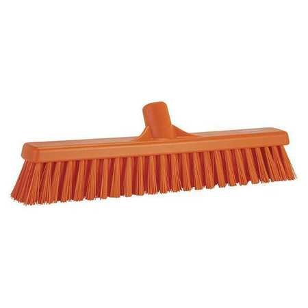 VIKAN Orange Polyester Fine Sweeping Combo Floor Broom