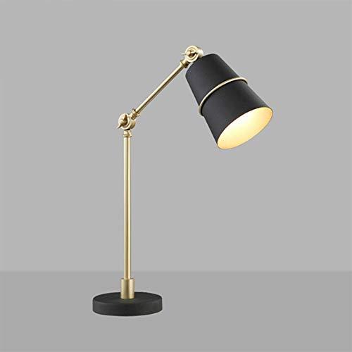 JXILY Lámpara De Mesa, Retro Simple Protección De Ojo De Moda Lámpara De Mesa, Aprendiendo A Leer Escritorio De Oficina Dormitorio Dormitorio De Noche Estudio Estudio Decorativo Arte,Negro