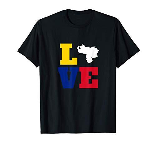 Love Venezuela Bandera flag Tricolor vinotinto Camiseta