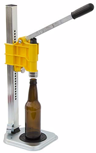 North Mountain Supply Spring Loaded Bench Bottle Capper - Yellow