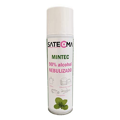 SATECMA Limpiador alcohólico de Superficies MINTEC 90% Alcohol presentado en Spray nebulizador de 500 ml de Capacidad Neta. ¡¡¡ Sin Gas propulsor, es Todo Producto para Usar !!!