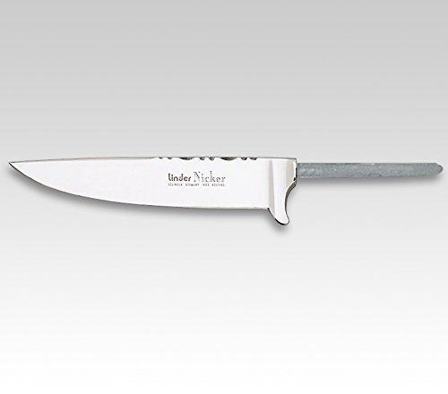 Linder Trachtenmesser-Klinge,rostfrei pol, Zierrücken, Spitzangel 11 cm, Klinge