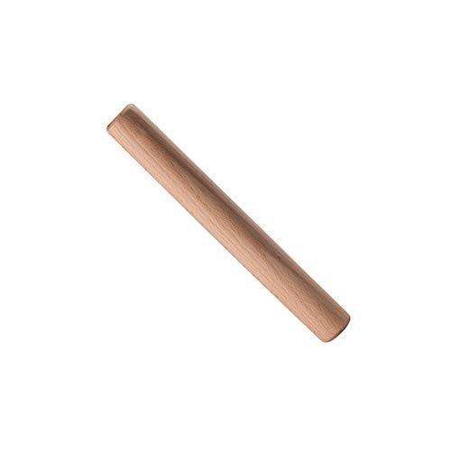 PELYN Dough Roller Wood Rolling Pins for Baking Fondant Pizza Pastry Pasta Ravioli, Mini Rolling Pin for Clay Great for Baker Kids, 11.05 Inch by 1.4 Inch