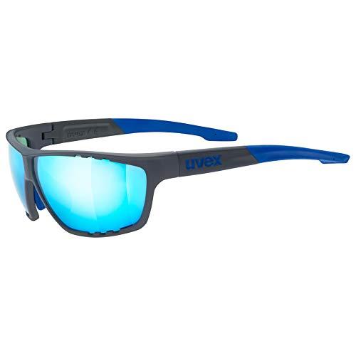 uvex Unisex– Erwachsene, sportstyle 706 Sportbrille, blue mat, one size