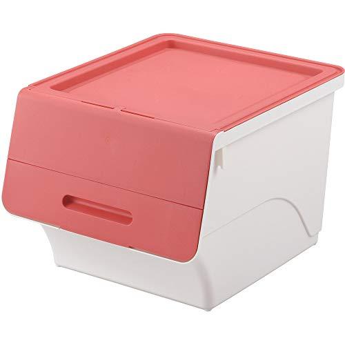 サンカ 収納ボックス フロック 30 ピンク / ホワイト 色 (幅38.5×奥行46×高さ31cm) squ+ fr-30P/WH 日本製の写真