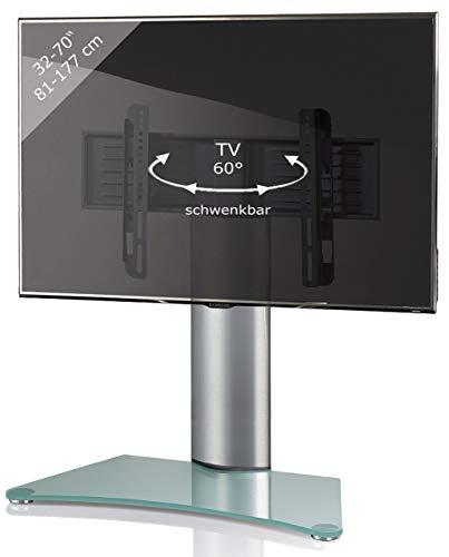 VCM TV Standfuß Tischfuß Fernseh Aufsatz Fuß Erhöhung schwenkbar drehbar Mattglas