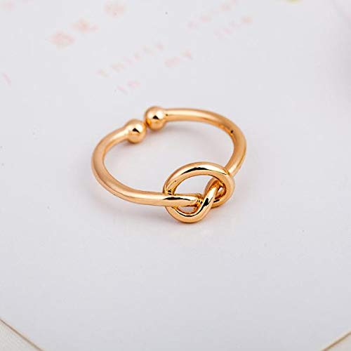 Fashion Simple Rings Knot Open Adjustable Ring For Women Jewelry Accessories Gift Valentine'S Day Daughter's Birthday Girlfriend Cheap Ring