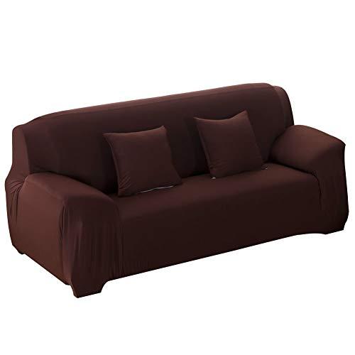 Oumefar Sala de Estar del Dormitorio de la Cubierta del sofá a Prueba de Polvo de la Alta Elasticidad(Double Seat 145-185cm)