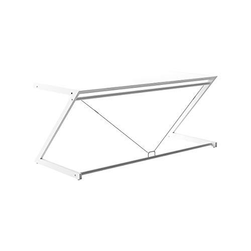 Certeo - Mesa de escritorio (730 x 1800 x 760 mm, tablero DM lacado), color blanco