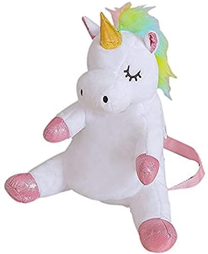 Niños Mochila Unicornio Relleno Mochila Niños Niños Moda Escuela Bolsas Colorido Animal Peluche Juguetes Kindergarten Baby Kawaii Mochilas Lindo