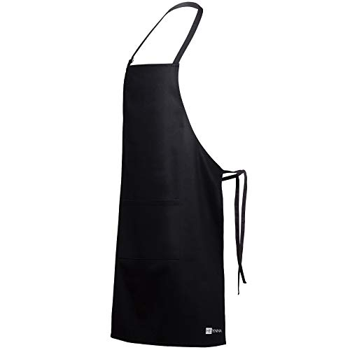 HEYNNA® Delantal de Cocina / Delantal de Chef Premium - 100% Algodón...