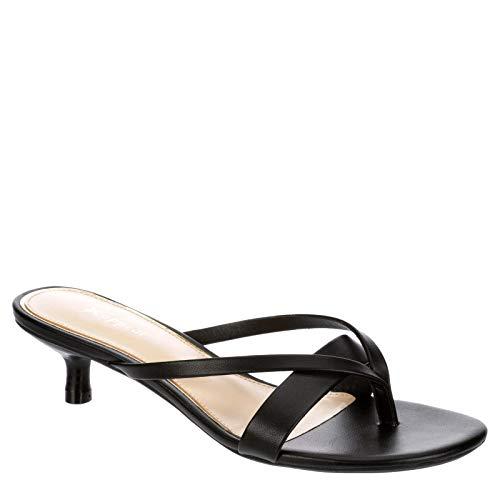 XAPPEAL Women's Avita - Low Heel Slip On Sandal Dress Shoe Black, Size 9