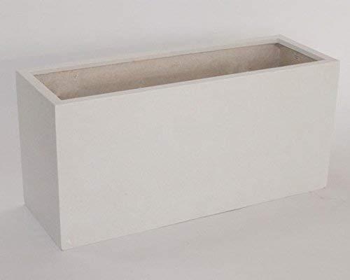 Pflanztrog Blumentrog Raumteiler Fiberglas rechteckig LxBxH 100x40x50cm perlmutt weiß