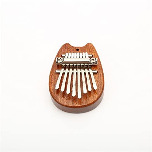 Mini Kalimba Pollice Pianoforte, Portatile 8 Tasti Finger Piano Spartito Mini Kalimba Chiaro Cuore Forma Strumenti Musicali (E)
