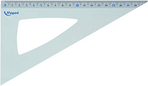 Maped M120621 - Zeichendreieck Aluminium, 21 cm, für 60 Winkel, aluminium