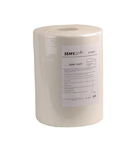 Semy Top Rouleau de 500 chiffons spécial nettoyage Double épaisseur Blanc 32 x 37 cm