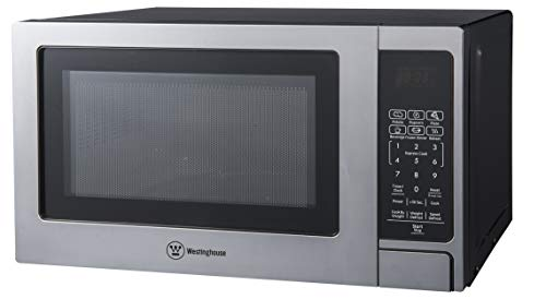 Westinghouse Stainless Steel Countertop Microwave Oven, 700-Watt, 0.7-Cubic Feet
