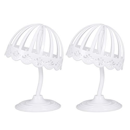 LIOOBO - Sombrero de Mesa de Metal de 2 Piezas para Gorra para Tienda de supermercados (Blanco)