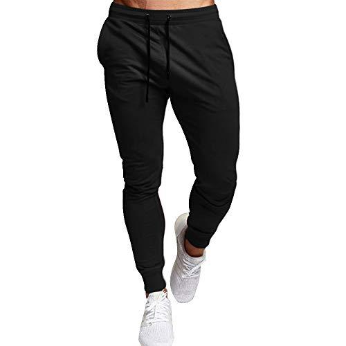 laamei Jogginghose Herren Slim Fit Trainingshose Sweathose Hose Einfarbig Lauftraining Freizeithose Sporthose