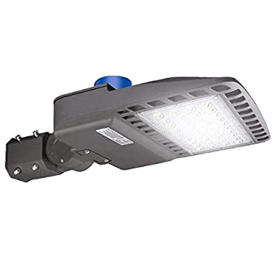 BloomGrow 100w 200w 300W LED Shoe Box Pole Light w/Photocell 120V~277V 5000K Commercial Outdoor Light Fixture Street Light,Road Lamp,Parking Lots Pole LED and Area Light IP65 UL ETL DLC Listed