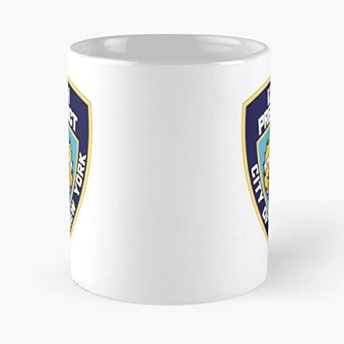 Weiße Keramik-Kaffeetasse mit der Aufschrift