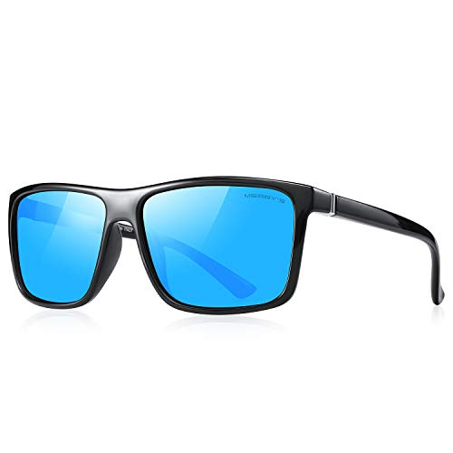 MERRY'S Polarized Vintage Rectangular Sunglasses for Men/Women Fashion Driving Mens Sun glasses S8225