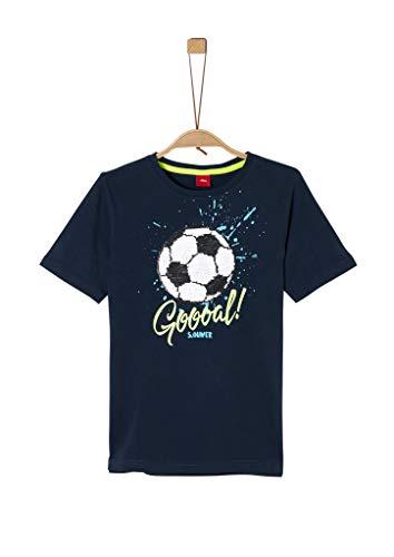 s.Oliver Junior Jungen 404.11.899.12.130.1278030 T-Shirt, Navy, 140/REG