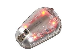 Kayheng HEL-Star 6 Feu de signalisation extérieur Vert & IR ou Rouge & IR avec Magic Tape Casque Tactique Lampe étanche Coccinelle Stroboscope Survival Light