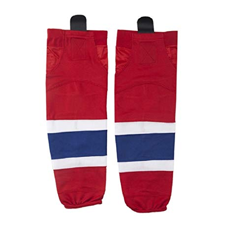 COLDINDOOR Eishockey-Socken für Erwachsene, rot, Dry Fit, Hockey-Socken für Herren, atmungsaktives Netz-Design, große Größe, Jungen Hockey-Socken